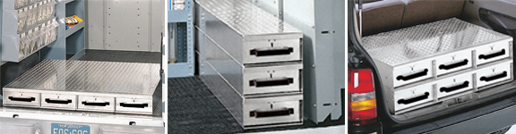 Heavy Duty Aluminum Slide Drawer Floor Storage Units