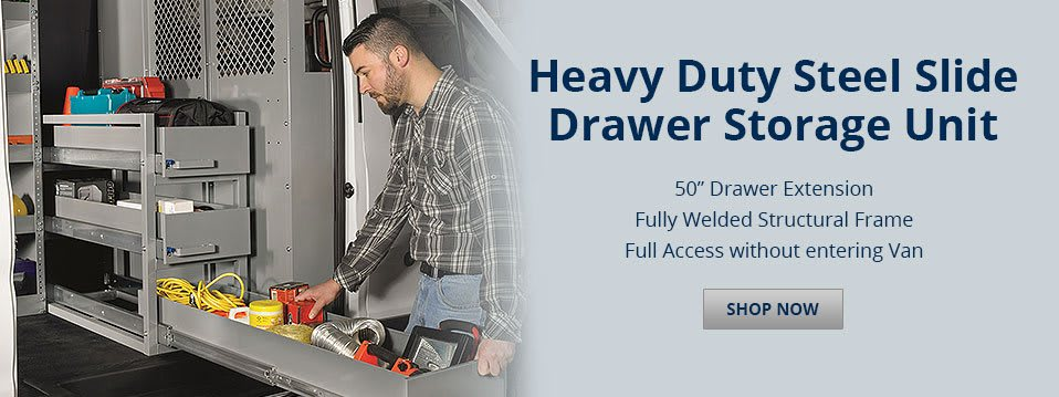 Heavy Duty Steel Slide Drawer Storage Unit