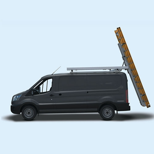 Ford Transit Low Roof Van with ladder ready for removal